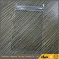 Pvc clear plastic slider bag easy vinly package