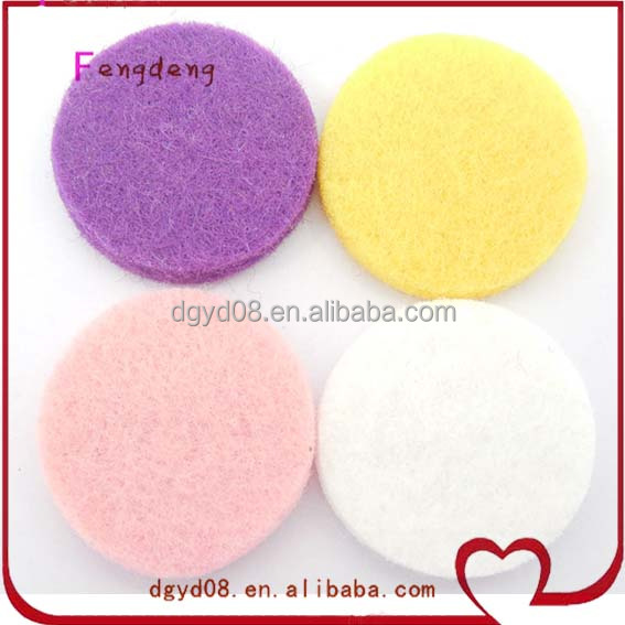11 colors of aroma felt pads for stainless steel aromatherapy locket essential oils diffuser necklace
