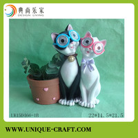 High quality resin figure flower planter for garden decorations