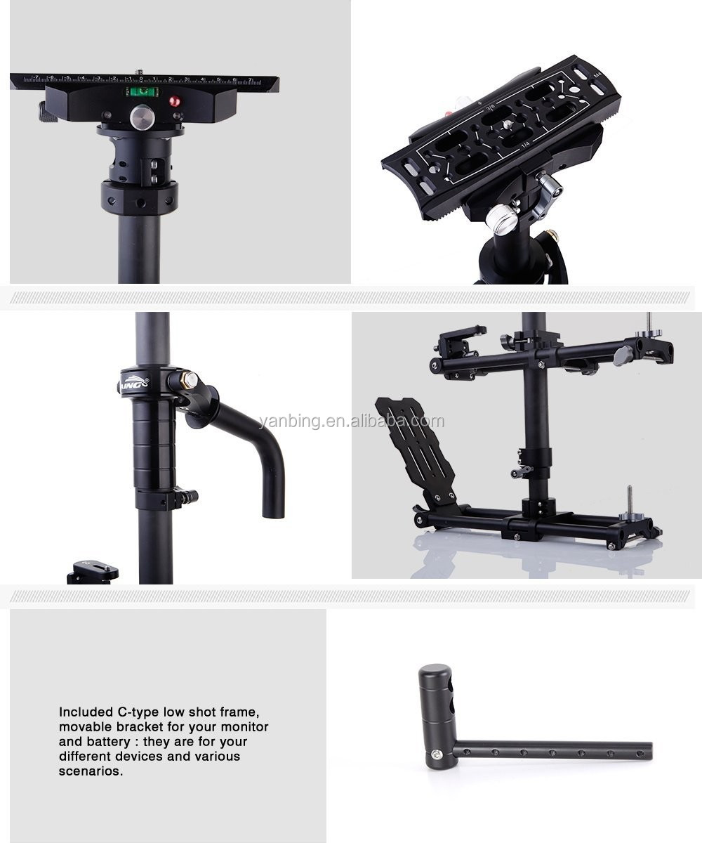Latest Version LAING M30PII video camera stabilizer with carbon fiber sled steadycam loading 15kg