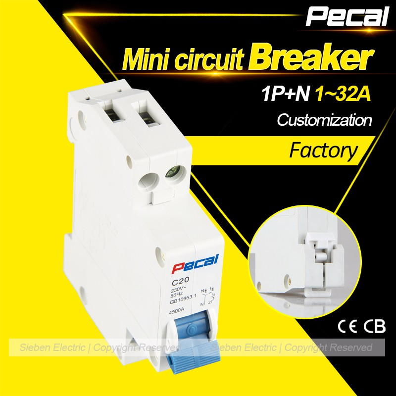 HOT 1A 10A 16A 230V/240V DPN circuit breaker 1P+N MCB for household protect