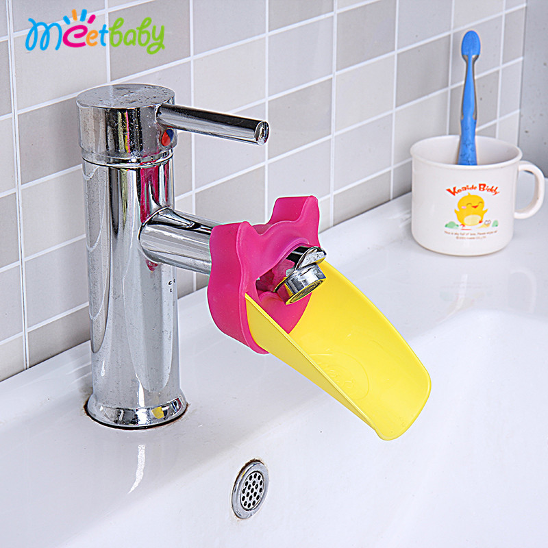 New Design plastic toy chute for baby children bathroom faucet sink extender washing silicone baby water chute