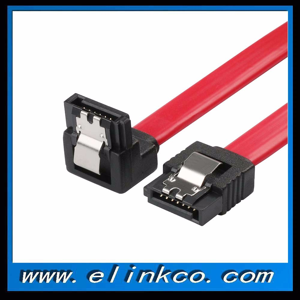 up to 6.0 Gbps Right-Angle SATA III Cable With Lock