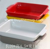 Ceramic Baking Dishes Bake Bowl Interaural Lasagna Dish Plate Bakeware Interaural Heat Resistant