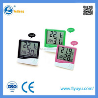 Digital temperature and humidity meter temperature hygrometer clock HTC-2for temperature hygrometer and calendar