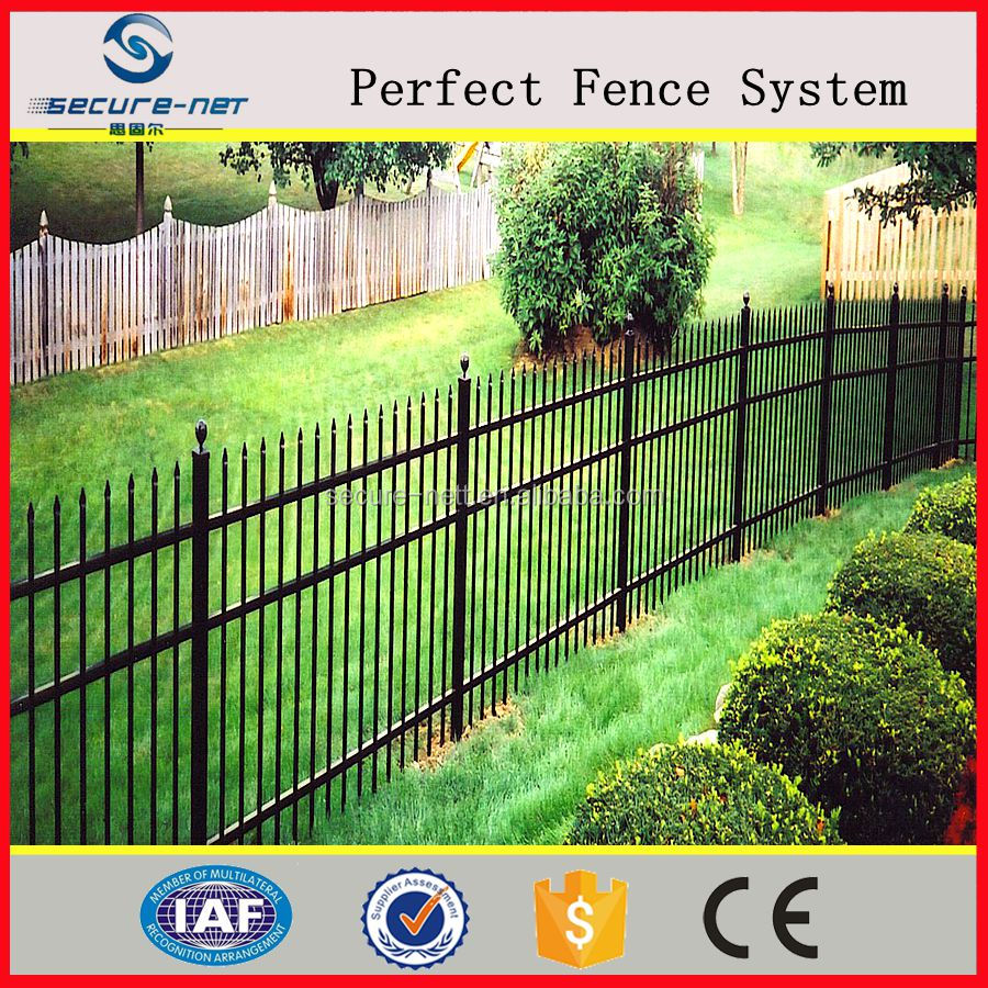 2016 latest selling product steel pipe fencing panles for free sample