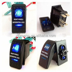 4Pin Waterproof 12V 20A Bar Rocker Toggle Switch Blue LED Light Car Boat