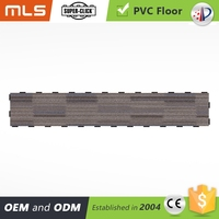 commercial eco-friendly decorative luxury easy clean anti bacteria lvt smooth wood like click lock vinyl plank flooring