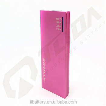 Portable charger power bank with invisible cable high capacity mobile power bank 12000mah