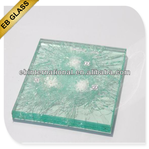 Laminated Bulletproof Glass with CCC and EN for Jewelry
