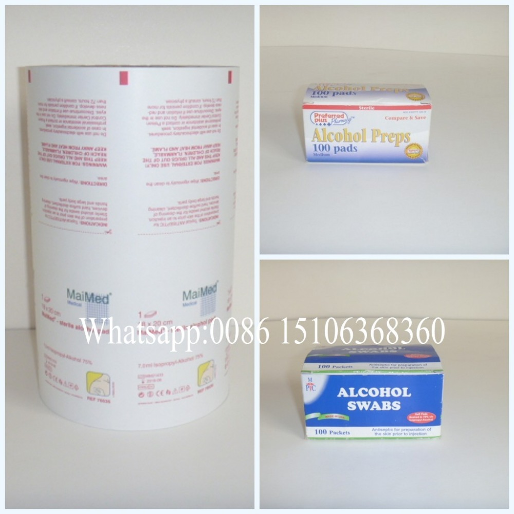New deisgn Aluminum foil paper for Alcohol Prep Pad/Alcohol Towelette in Middle East