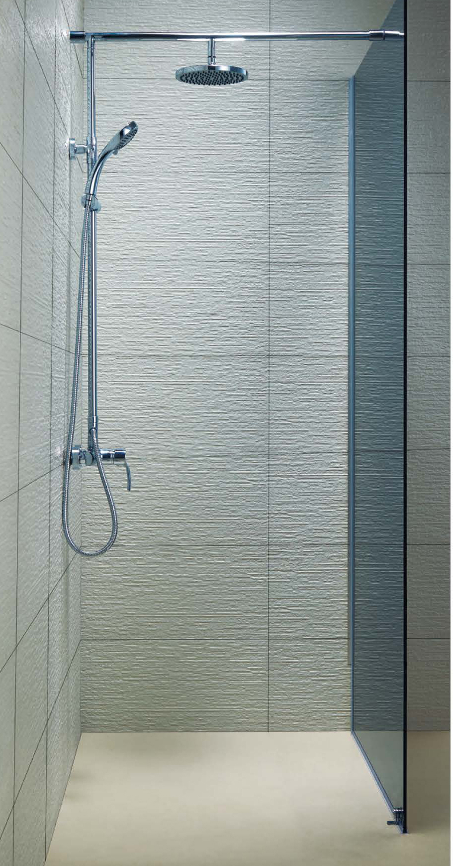 KD8006A BS6206 Fixed Glass Shower Screen Walk In Shower Enclosures