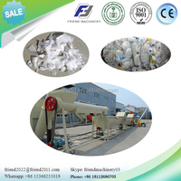 Waste plastic HDPE milk bottle recycling crushing washing drying machine/line/plant
