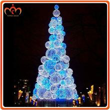 LED motif lighting Ball tree luxury christmas decorations