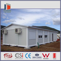 one storey low cost prefab steel 20ft moveable container house CE certificated