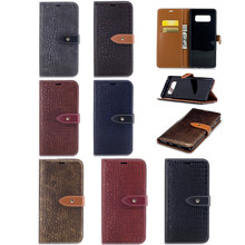 Luxury Crocodile Pattern PU Leather Mobile Phone Case for Samsung Galaxy Note 8
