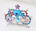 Hair inserted many teeth Phoenix hair comb crown hairpin wholesale flower crystal hair combs