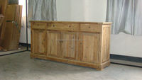 antique european style rustic wooden sideboard