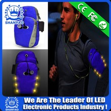2018 Hot Selling USB Rechargeable LED Sports Arm Bag For Sports