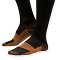 Black Copper Anti Fatigue Socks Sport Sleeve Compression Socks Running