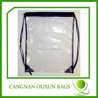 Factory direct sale see through drawstring bag