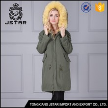 Latest design wholesale winter jacket with fur collar coat womens
