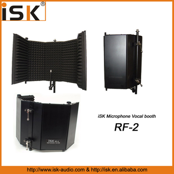 iSK microphone isolation shield Vocal Isolation Booth RF-2