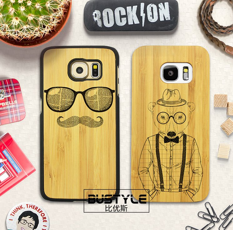2016 new uv printed hard bamboo wood phone case for iphone 6 6s wood case for samsung galaxy s6 s7 note 3 s4 case note 5
