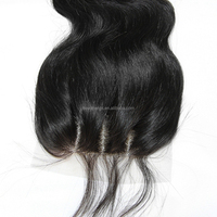 Eayon 8A Free Shipping Brazilian Virgin 100% Human Hair Closures Straight Lace Closure Top 4*4 lace closure Bleached Knots