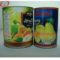 850ml Canned Bartlett Pear In Syrup,Canned Fruit,Canned Food With Private Brand