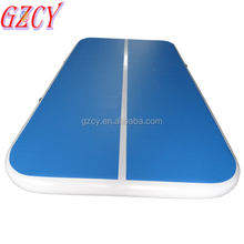High quality inflatable water flow mat, inflating air tricks yoga mat for sale