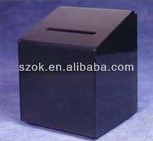 Wholesale acrylic standing charity donation boxes with lock