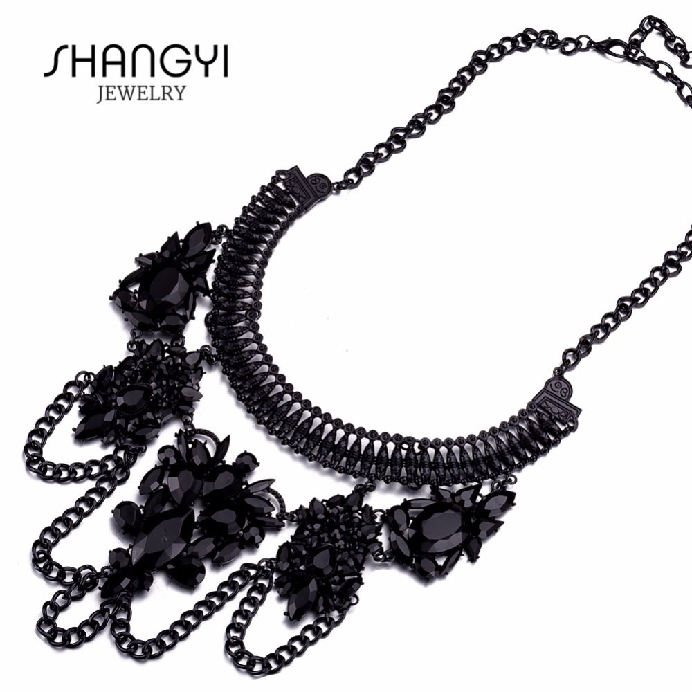 Fashion Jewelry Plated Chunky Statement Necklaces 2016 In China