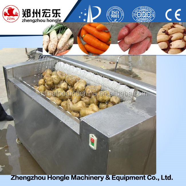 Stainless Steel Carrot Washer / pumpkin Washing Peeling Machine