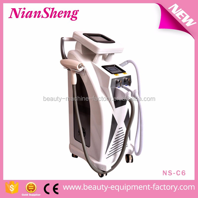 NS-C6 Multi-function elight hair removal / ND YAG Laser tattoo removal / Ice RF skin care machine