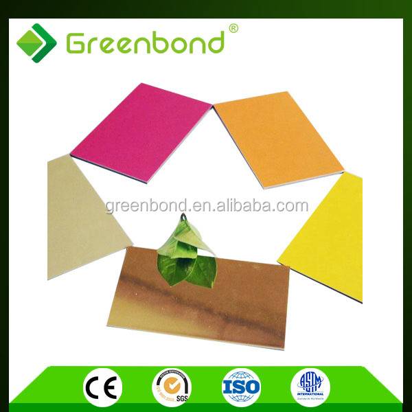 Greenbond aluminium panel office partition plastic interior wall decorative panel lowes