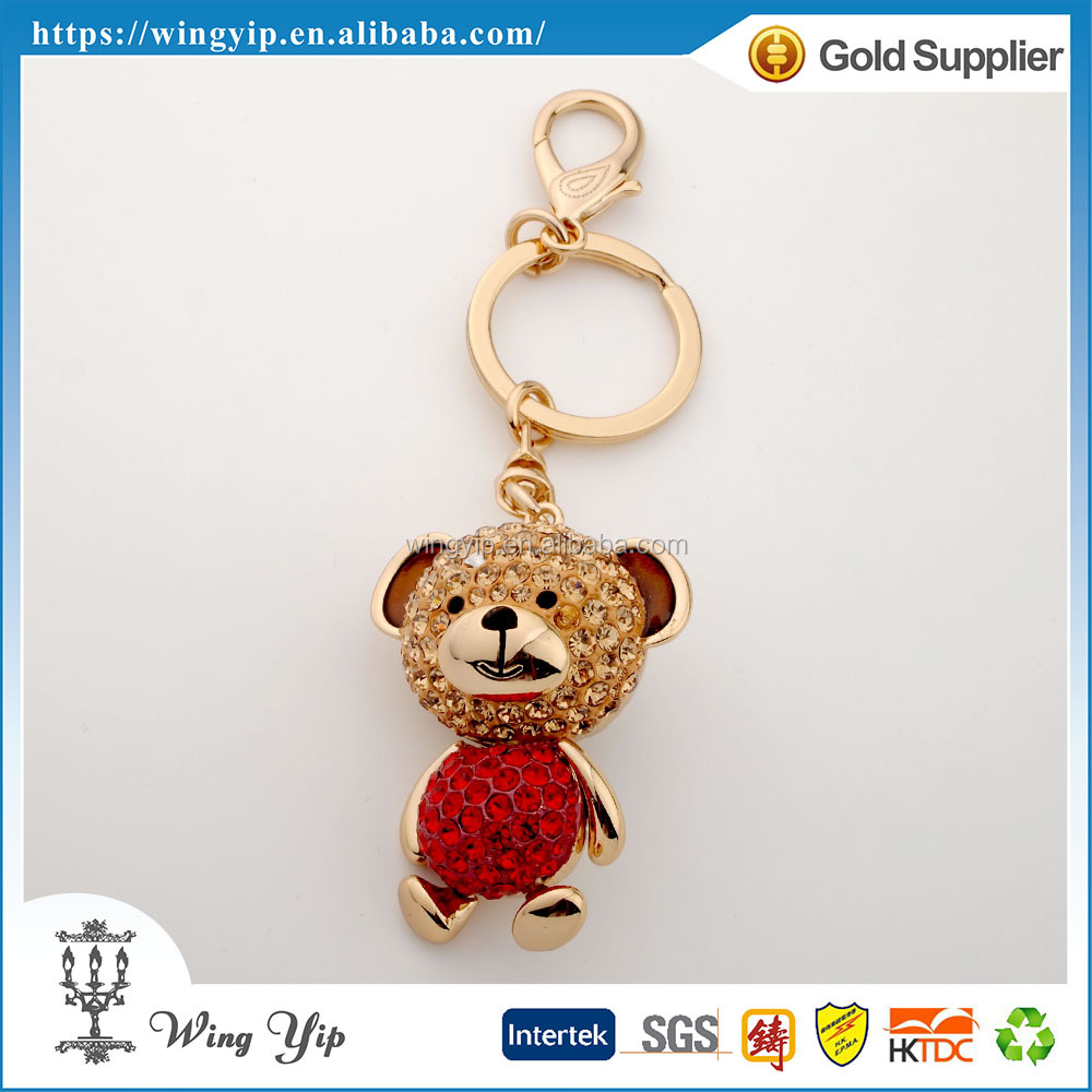 Custom made good quality Animals Bear Metal Gift Key Chain