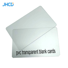 30mil custom Matte Glossy Frosted surface clear plastic transparent blank pvc <strong>cards</strong>