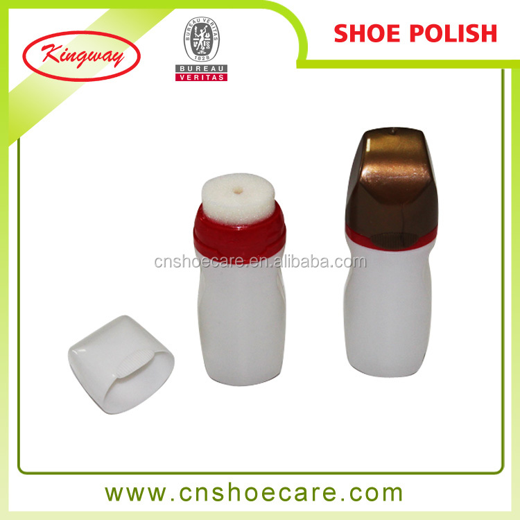 Plastic Bottle With Sponge Application Liquid Shoe Polish