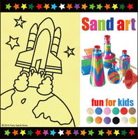 Space series sand art pictures for boys 14 bright color sand available