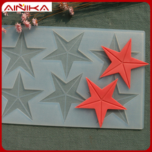 Factory wholesale silicone molds star shape decorations of cake