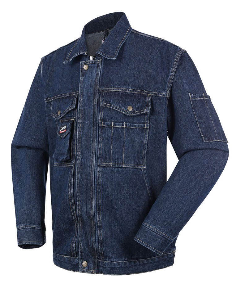 jeans manufacturers china,2017 multi-pocketed work Denim jacket,safety workwear Denim jacket