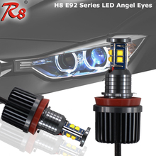 LED Angel Eyes 80W E87 E82 E90 Ring Marker Bulbs E92 E93 E70 E89 Canbus FREE LED Marker for BMW