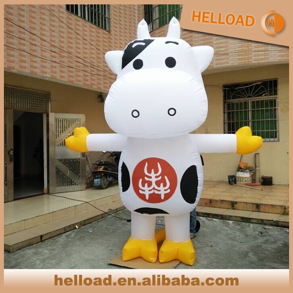 custom made printed logo inflatable stable cow cartoon wholesale