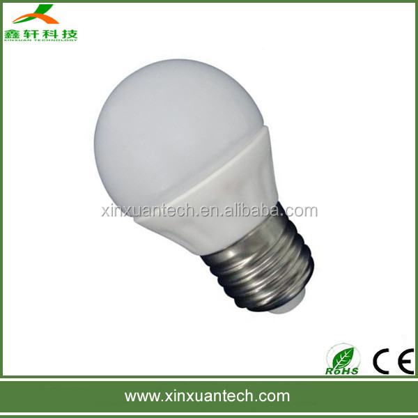 Good quality ceramic e27 bulb led with glass cover 3w 5w
