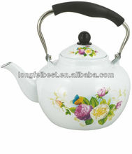Apple shape enamel cast iron teapot