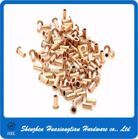 Copper brass or steel hollow pcb rivet with high quality