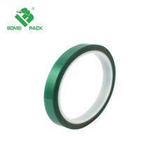 "Polyester/Silicone Single Coated Splicing Tape, 3.3 mil Thick, 72 yds Length, 2"" Width, Green"