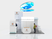 Cardboard display stand ! portable aluminum 20 ftx20ft trade show booth for advertising