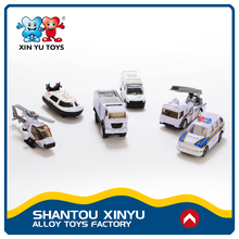 Custom made 1:64 diecast sliding police vehicles baby toys kid for education